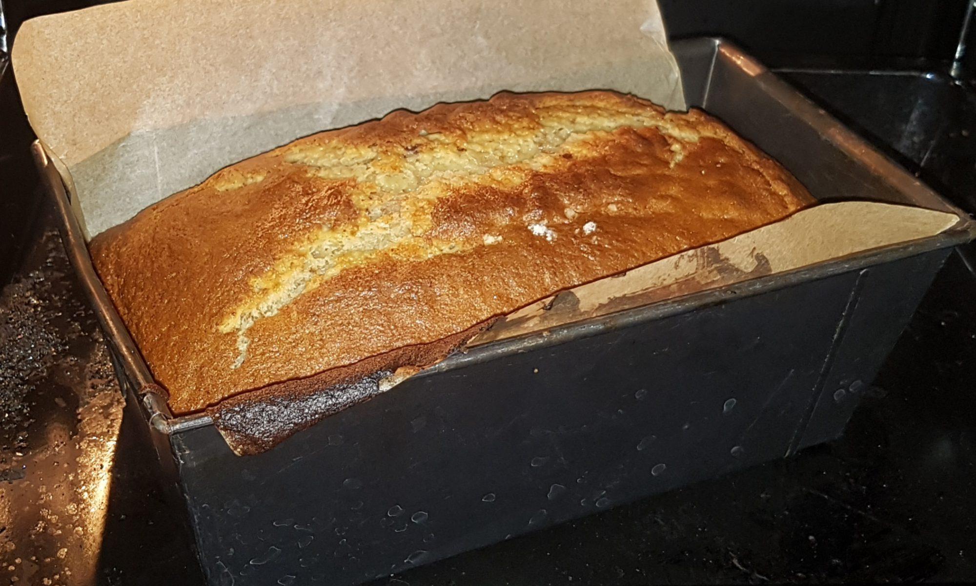 Bananenkuchen noch im Ofen