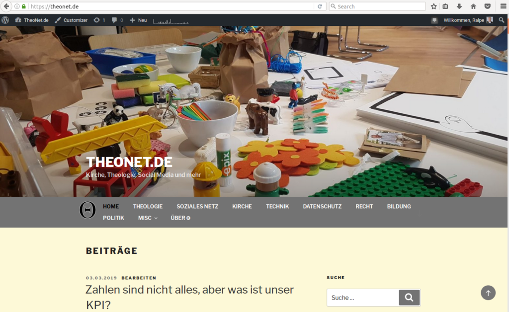 Screenshot theonet.de